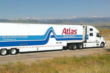 Our moving truck at Advance Relocation Systems on an international move.