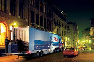 Our moving truck at Advance Relocation Systems on a long distance move.